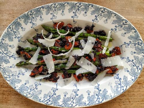 asperges vertes tapenade tomates confites les beuqueries étape 6