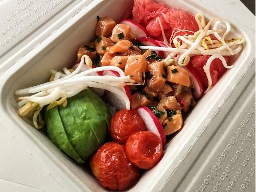 poke bowl au tartare de saumon livraison entreprise et domicile